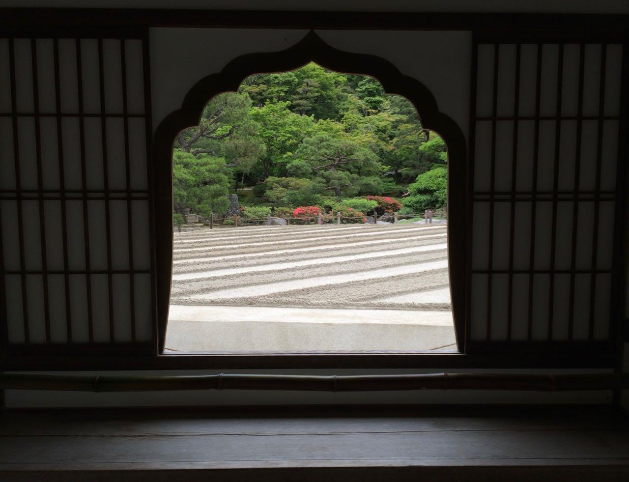 Ginkaku-ji window