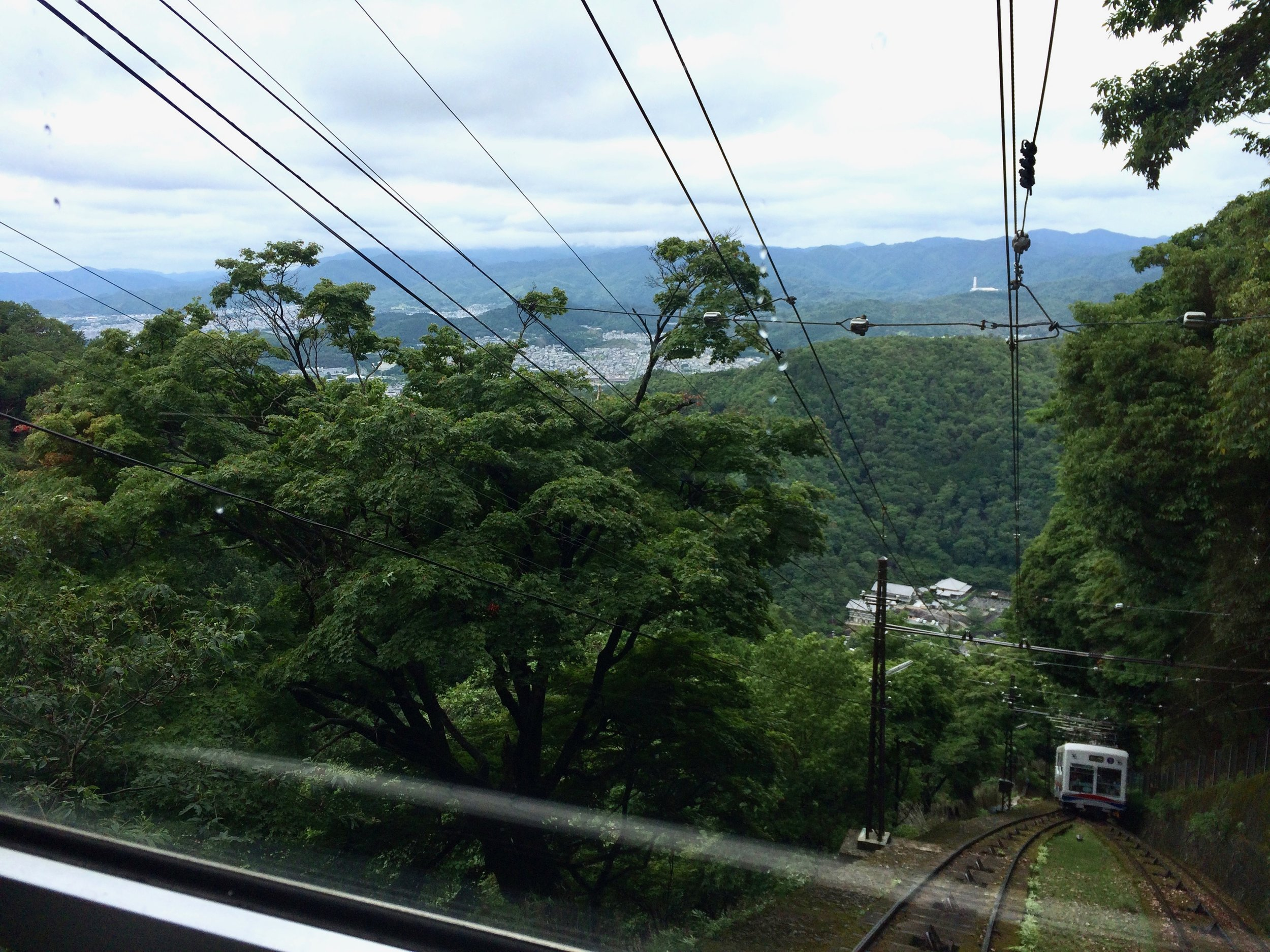 Gondola down from Hiei-zan