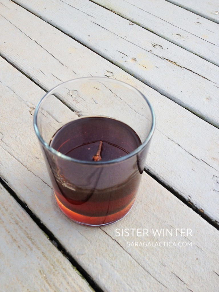 Sister Winter: A cocktail inspired by the music of Sufjan Stevens. By Sara Galactica. | saragalactica.com