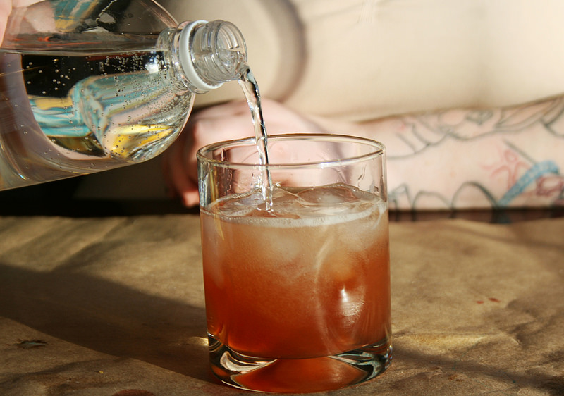 "Firefly-Inspired cocktail, ""The Hero of Canton."" Club soda."