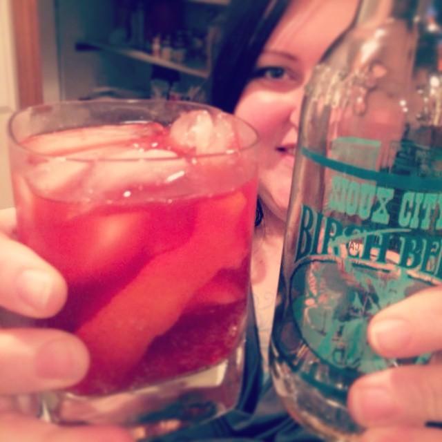 Red Riding Hood cocktail: Gin, absinthe, lemon, birch beer. saragalactica.com #onceuponatime #cocktail