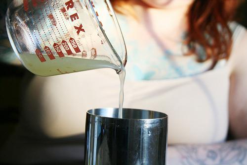 Lemon juice. Sarah Palmer cocktail. Photo by Andrea Holodnick.
