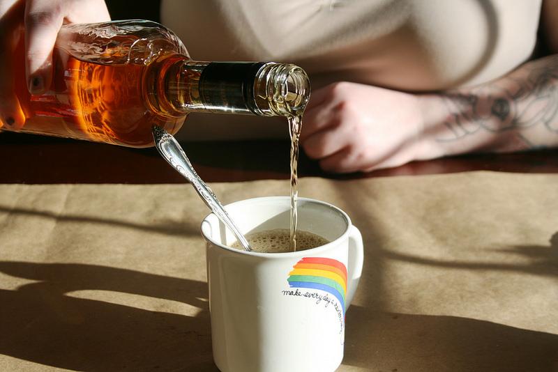 Lorelai cocktail: Sweetened condensed milk, coffee, rum.