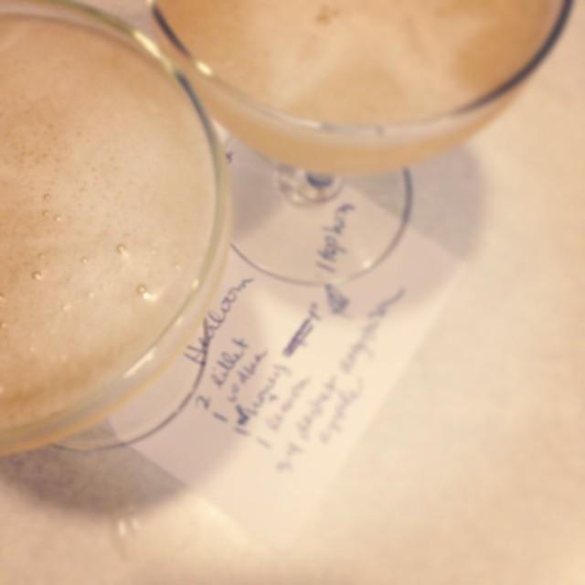 Heirloom: A cocktail inspired by Sufjan Stevens. Lillet Blanc, vodka, honey, lemon, Angostura, apple. Photo by Andrea Holodnick. | saragalactica.com