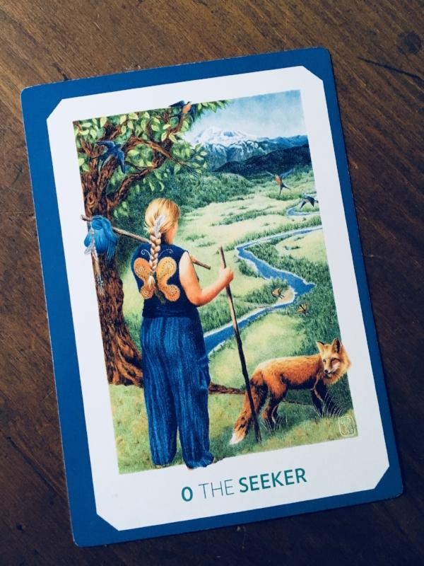 """The Seeker,"" The Gaian Tarot"