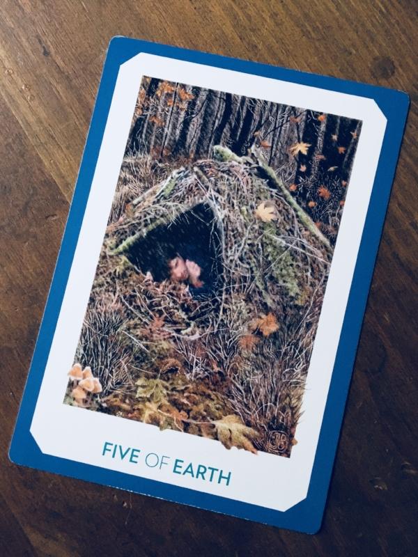 """""""Five of Earth,"""" Gaian Tarot"""