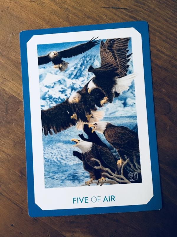 """Five of Air,"" Gaian Tarot"