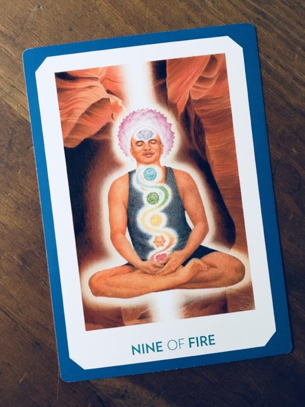 """""""Nine of Fire,"""" Gaian Tarot"""
