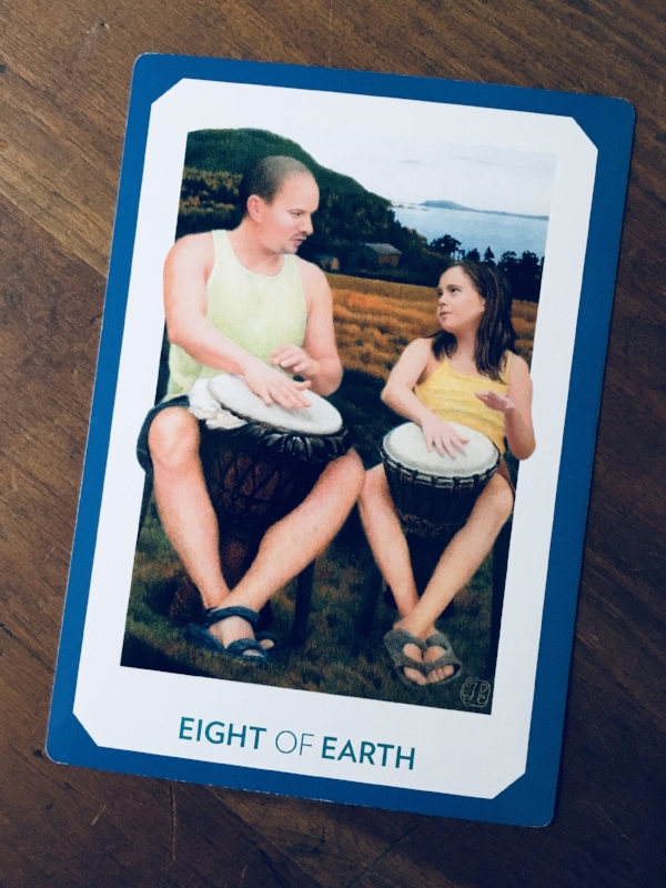 """Eight of Earth,"" The Gaian Tarot"