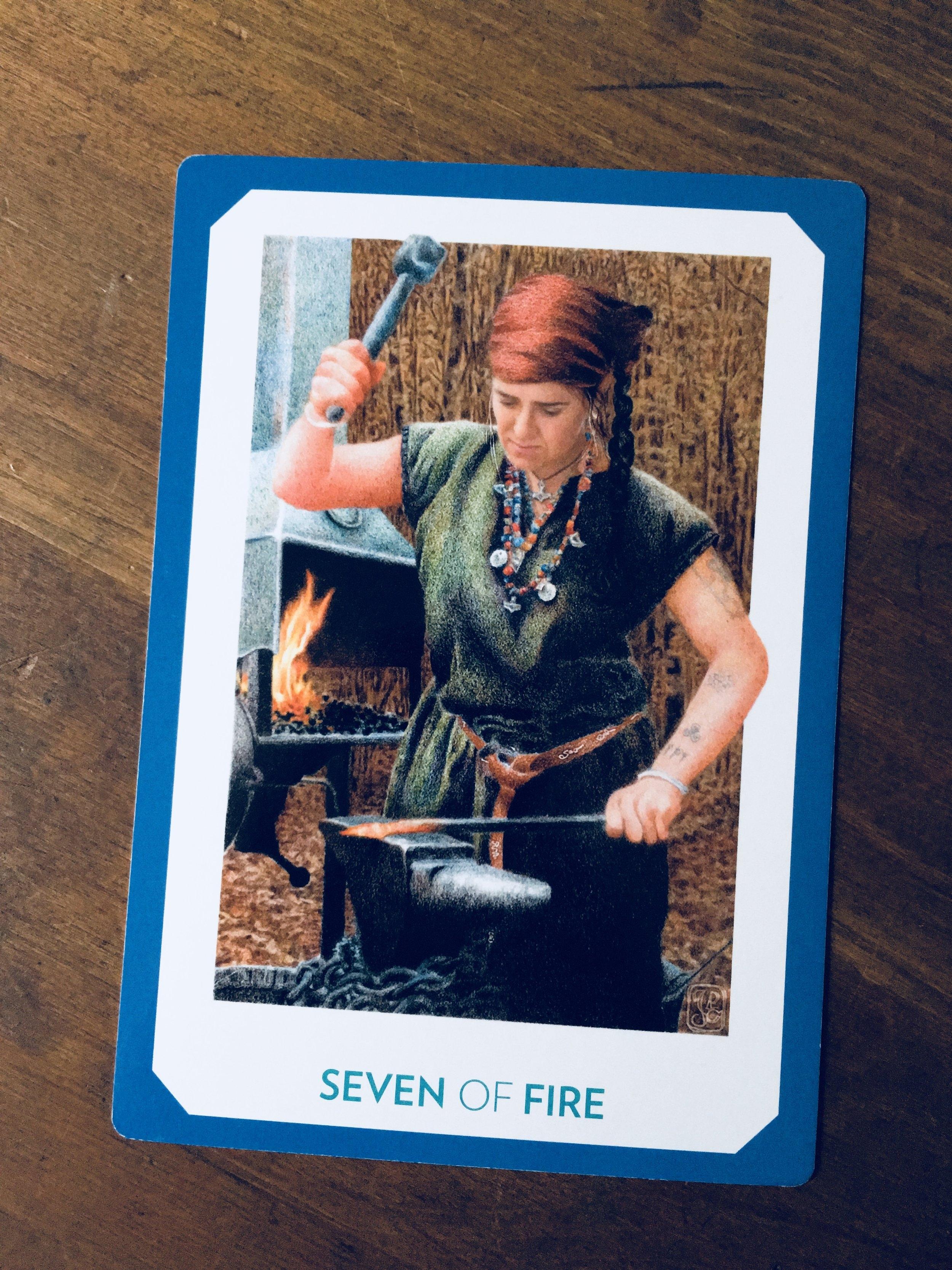 """""""Seven of Earth,"""" The Gaian Tarot"""