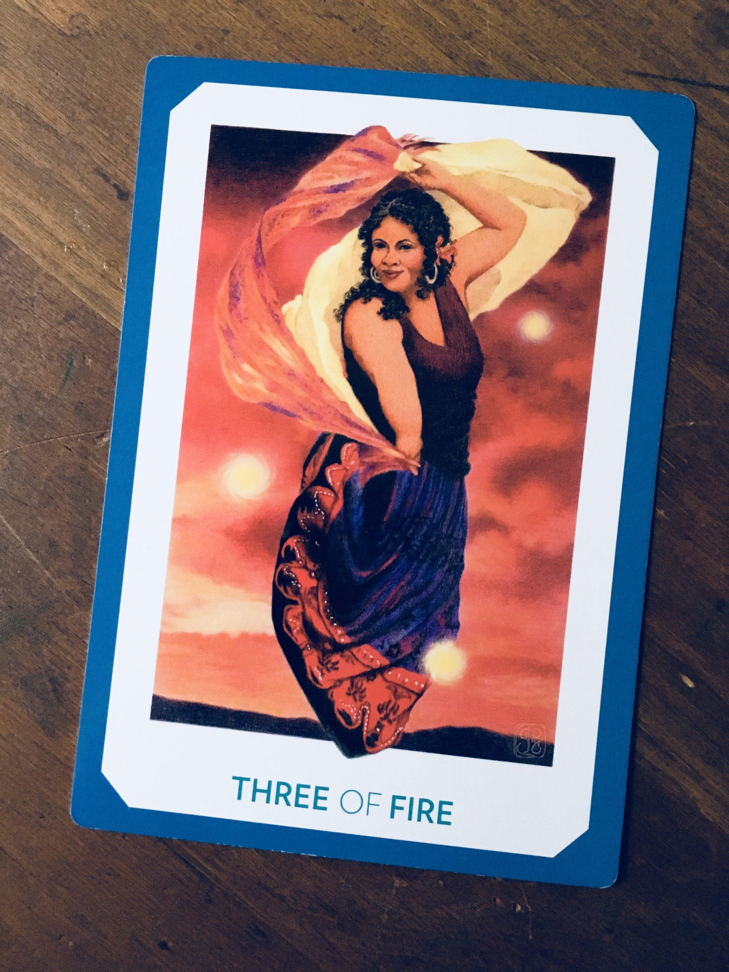"""Three of Fire,"" The Gaian Tarot"