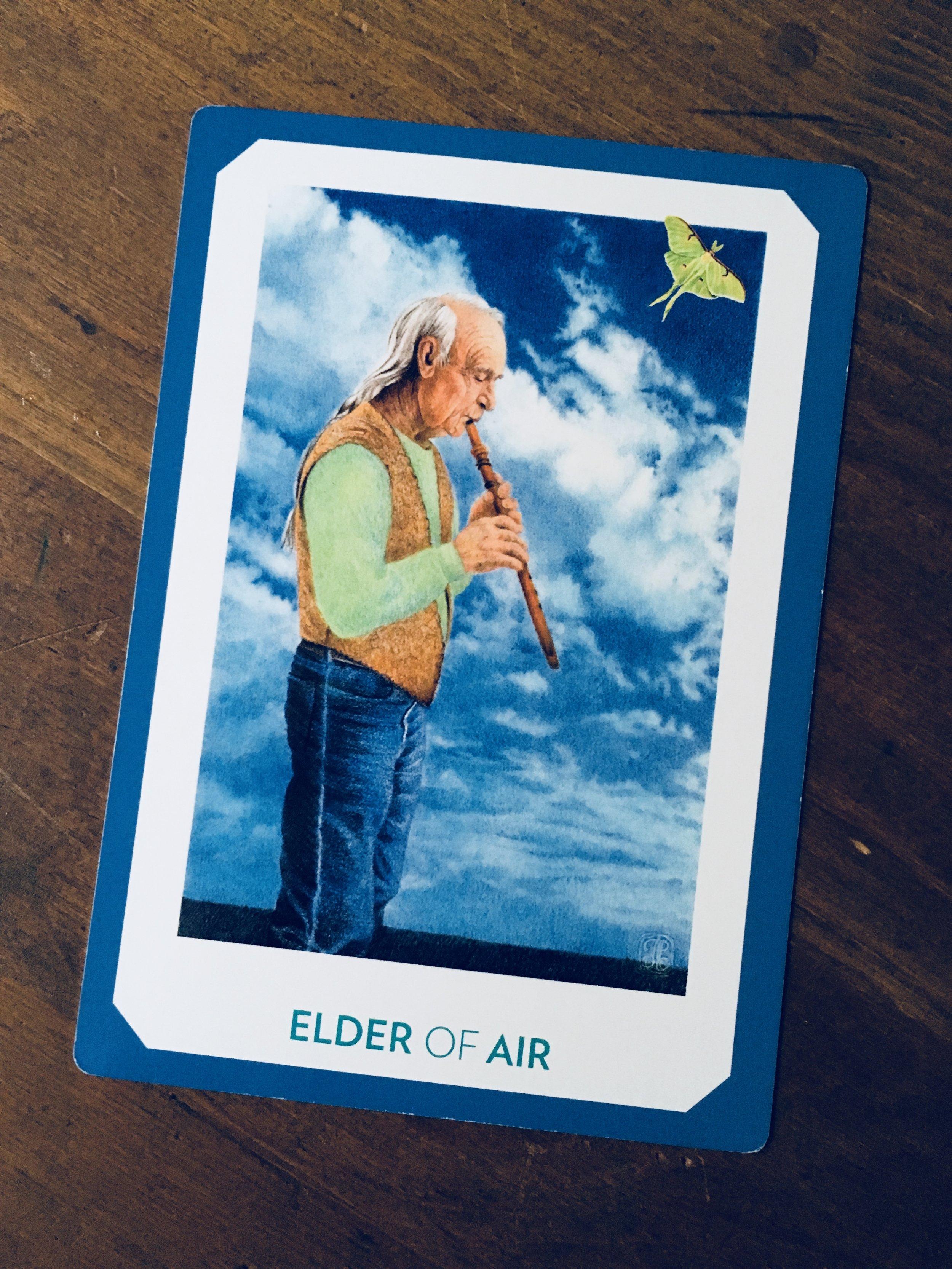 """""""Elder of Air,"""" The Gaian Tarot"""