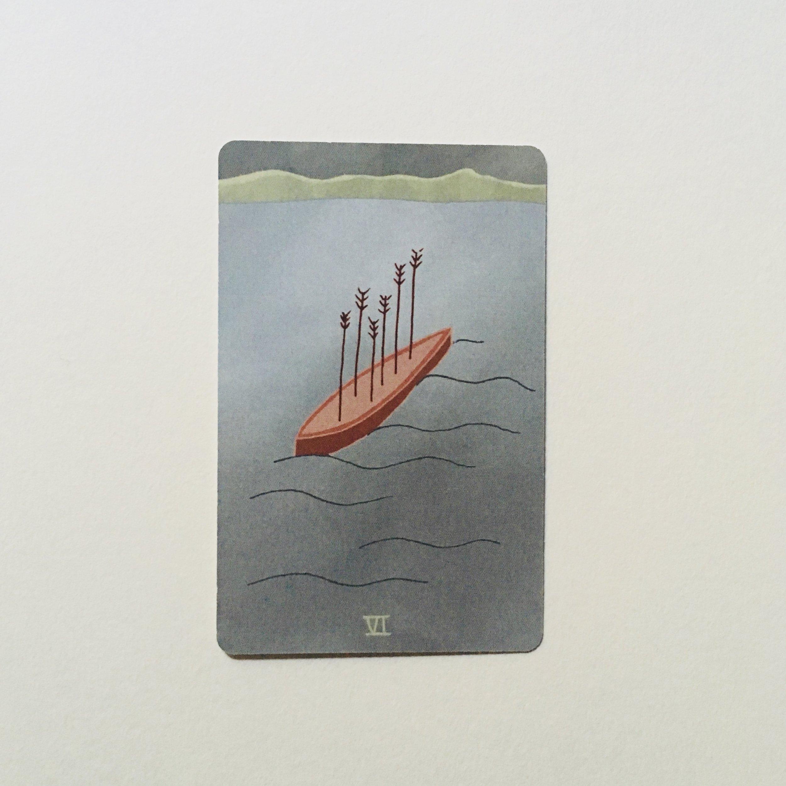 Six of Arrows, Mesquite Tarot