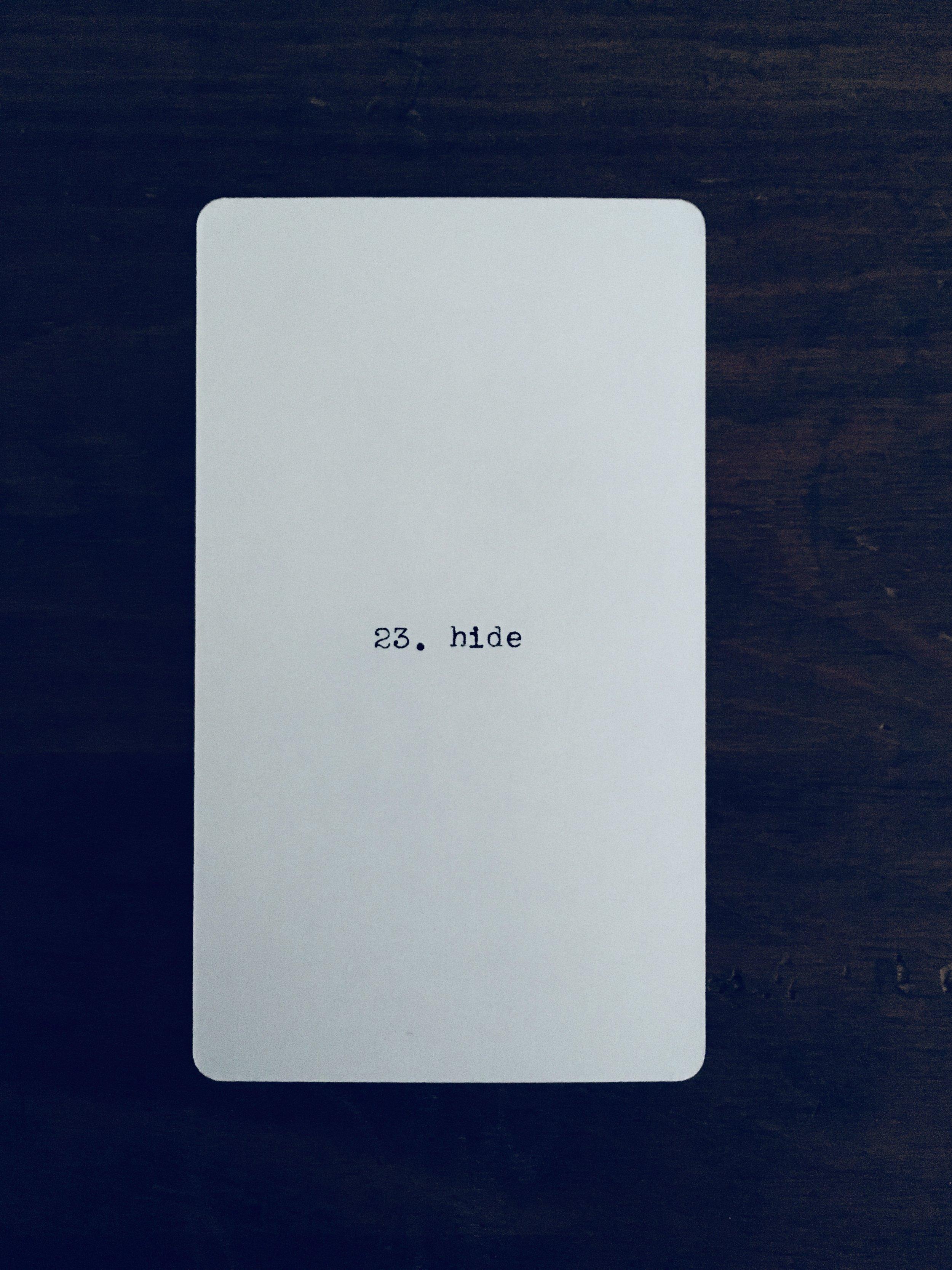 Cancer: 23. hide