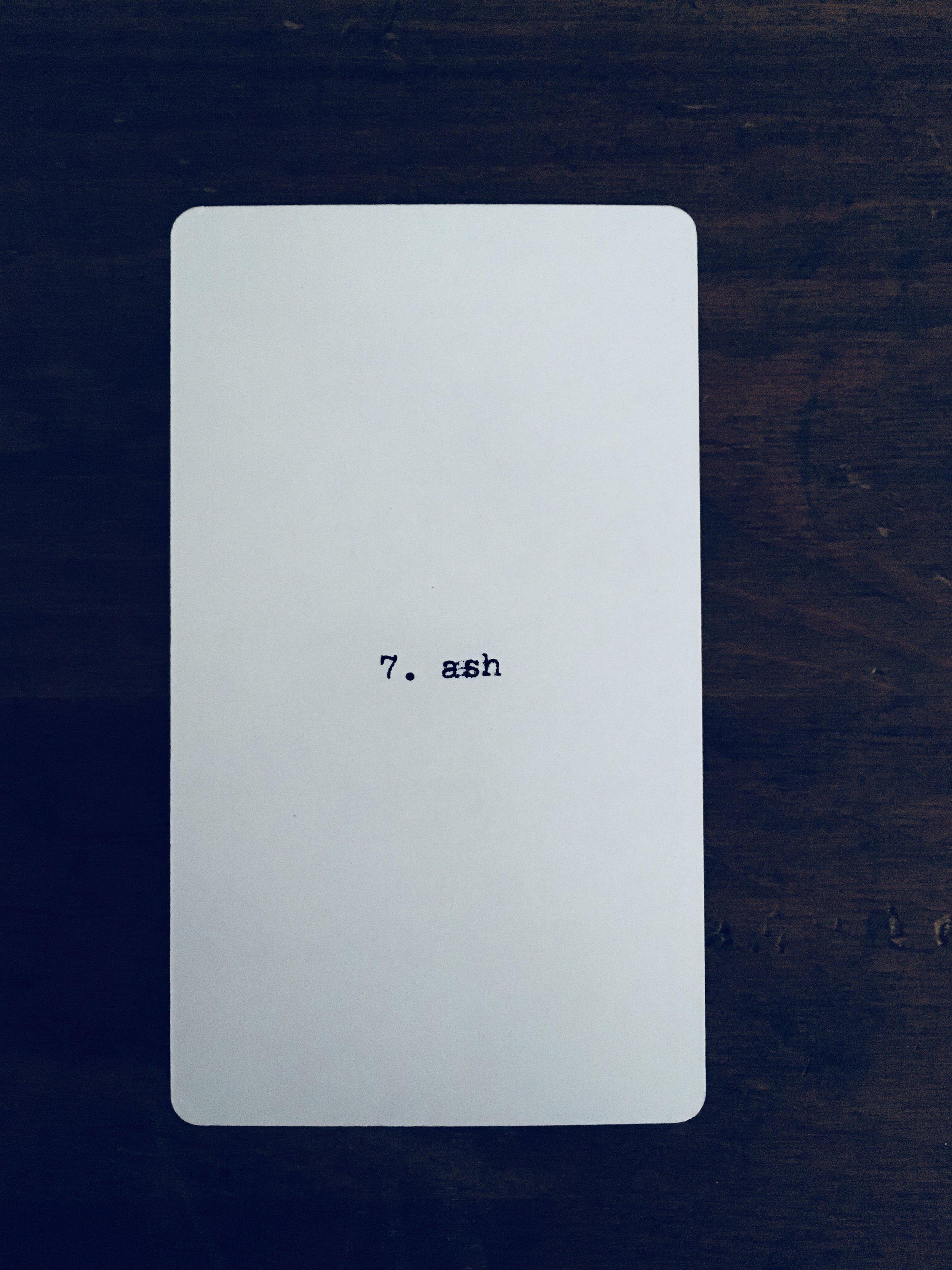 Libra: 7. ash