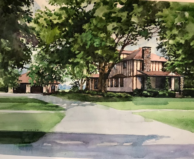 Watercolor (from customer provided photo)