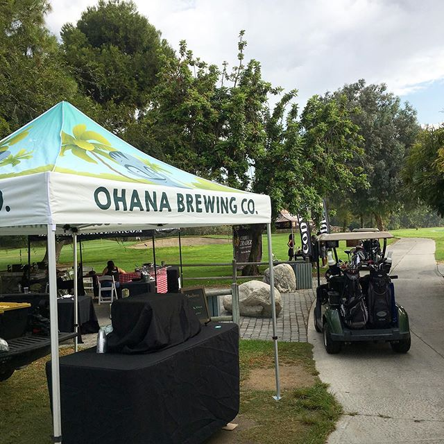 Check out our new tent! 😍 Keep an eye out for us at future events and beer festivals. 🍻⛳️ Today we're at the 3rd annual Vets Golf Fore Kids Charity Golf Tournament. Come say hi, if you're here!
