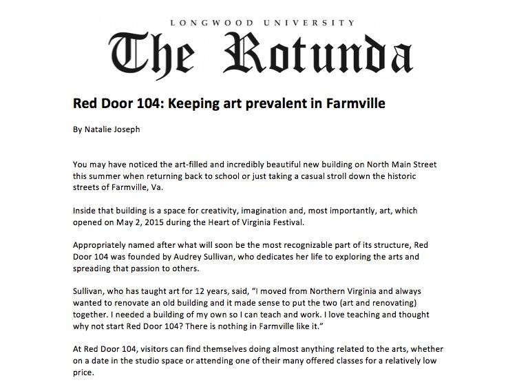 Red Door 104: Keeping art prevalent in Farmville