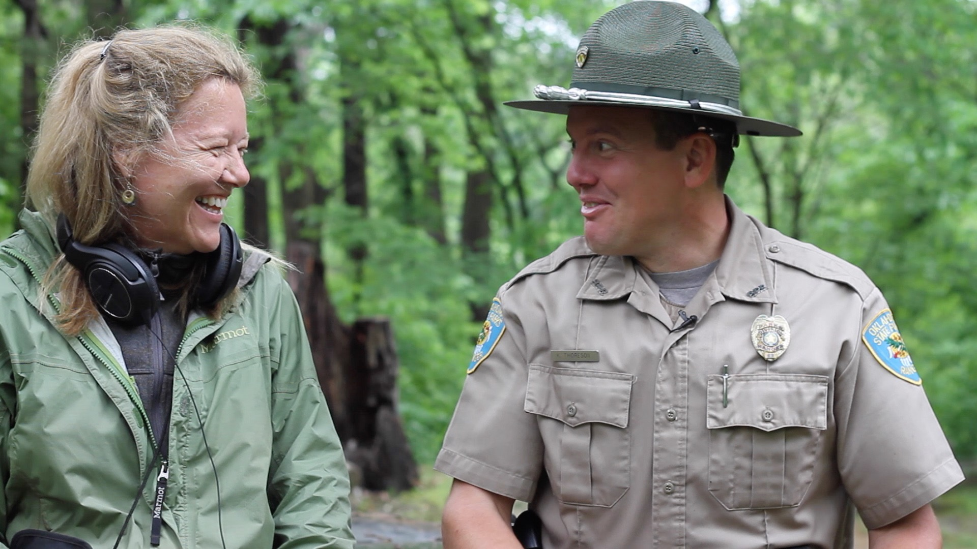 One of my favorite interview experiences - I met Ranger Kyle Thoreson outside Bartlesville Oklahoma at Osage State Park, where Henry and I were camping. He found us during his evening check on a rainy night, sleeping in the back of our Jeep because I had left our tent poles in a field back in Missouri. Not only did he agree to an interview the next morning on his day off, but he located some tent poles in the park's lost and found and cut them to fit our little tent, which we slept in for the next many months, always remembering Kyle's kindness.