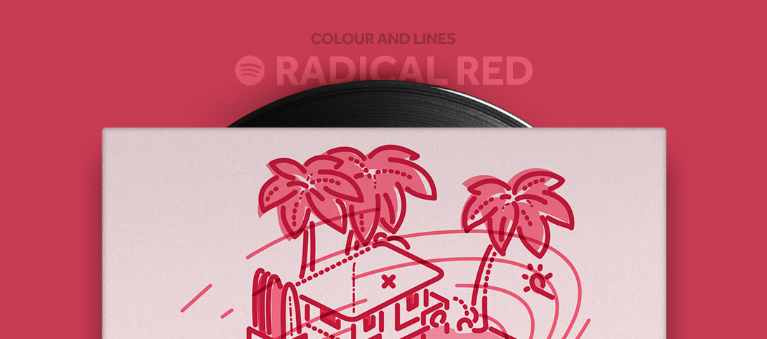 colour and lines mixtape - radical red