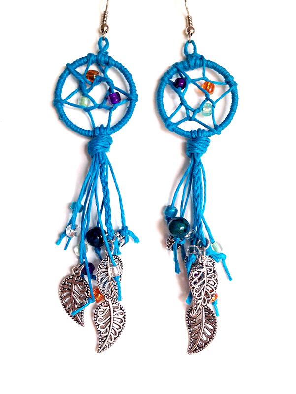 Blue Dreamcatcher Earrings