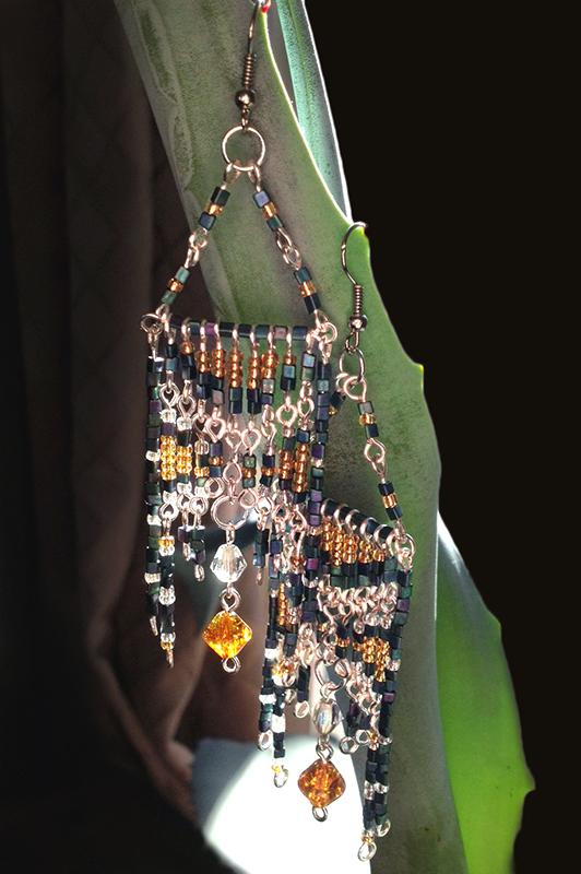 Egyptian Beaded Earrings