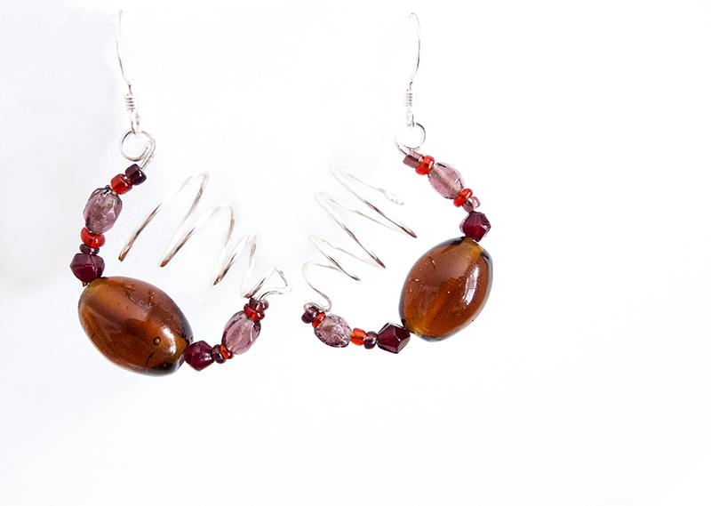 Half-Hoop Hammered Earrings