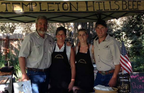 Will Woolley, Darian Buckles, Katie Emery, and Alton Emery.       Photo courtesy of Templeton Hills Beef.
