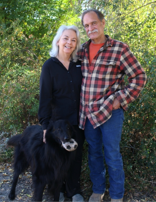 DENISE AND CHARLES SCHRYVER WITH JET.
