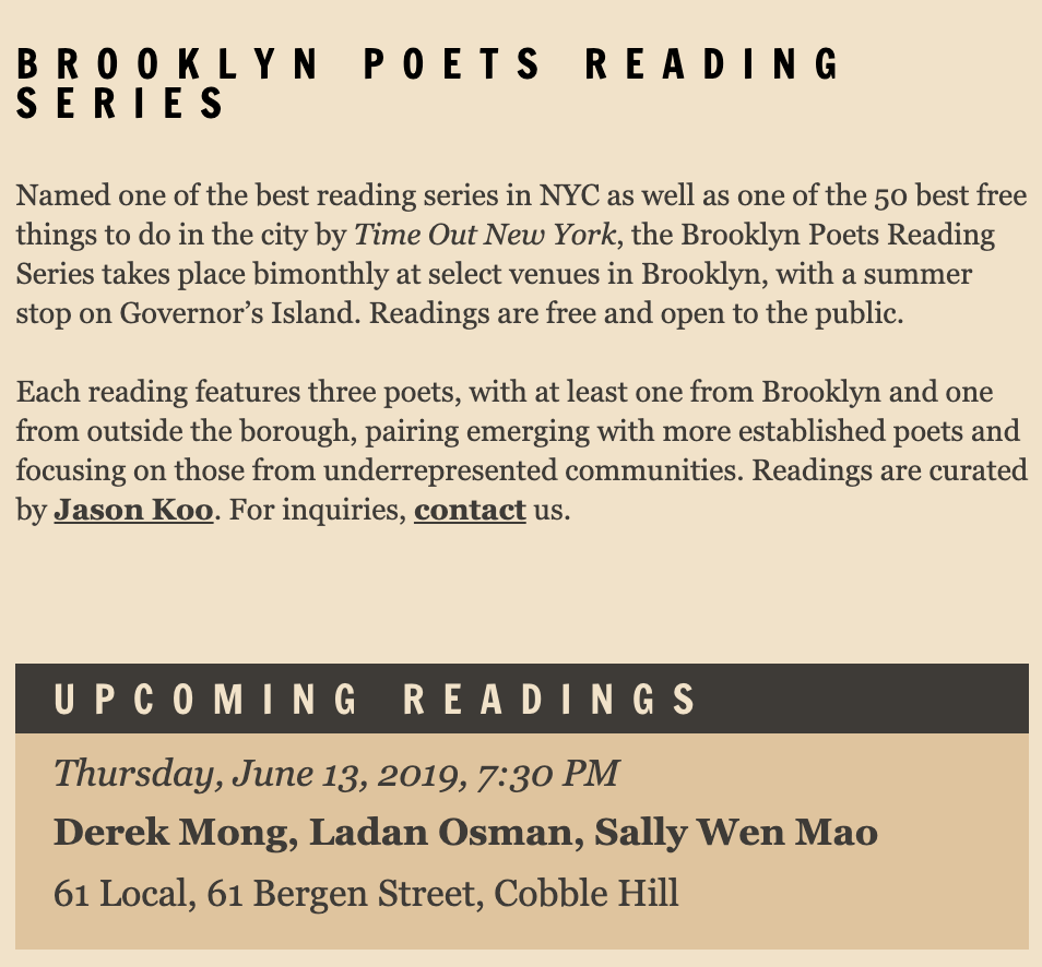 brooklyn poets