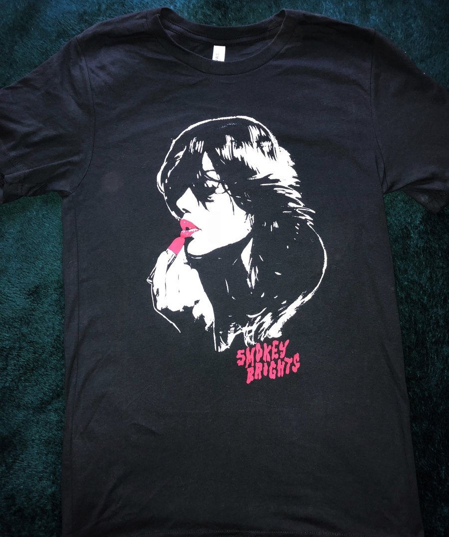 Order the Smokey Brights 'Lipstick Tee' from  Bandcamp!
