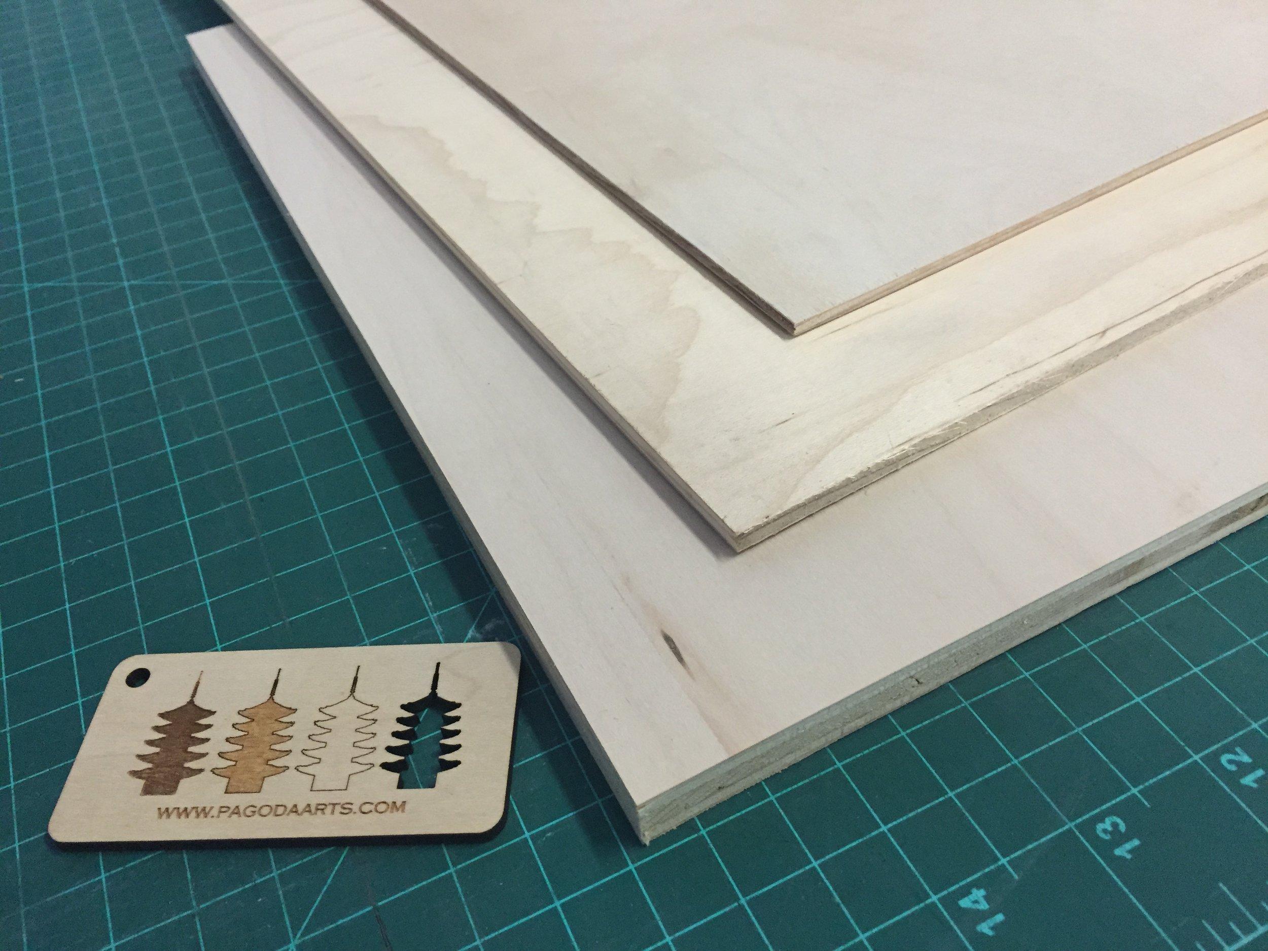- Maple plywood 1/8