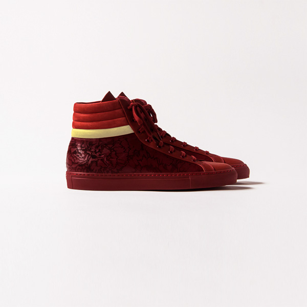 Nupe BLOOM . Embossed Leather Hightop