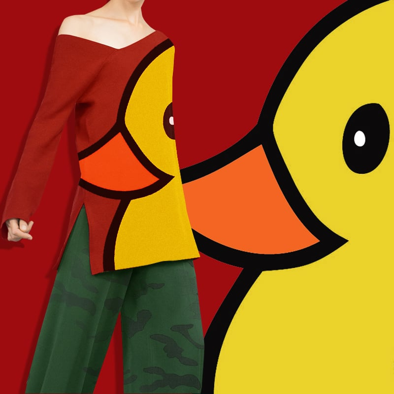 QUACK Modern Sweater. Designed Property of Carrington J Sander