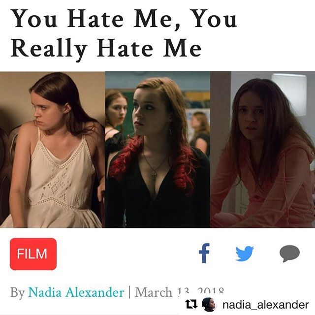 #Repost @nadia_alexander 🔥🔥👏🏼👏🏼 ・・・ I wrote a thing! If you haven't noticed, I have a habit of playing some less-than-lovable teen girls and reactions (particularly on Twitter, but occasionally here as well) can be strong to say the least! In my article I talk about why these girls deserve our sympathy (and not just because something horrible happens to them), how finding empathy for imperfect characters can help us better communicate with one another and why I never unsubscribe to spam email. Check it out over at talkhouse.com and maybe one day Instagram will finally let us put links in our captions! #seriouslyitsbeen3years #getittogether #IguessImarealwriternow #finallyanexcusetoneverleavethehouseandwearNOPANTS