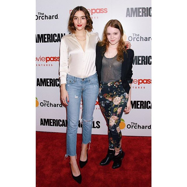 BLAME's @quinnshephardofficial and @nadia_alexander attend the premiere of @ameranimals 🦆✨
