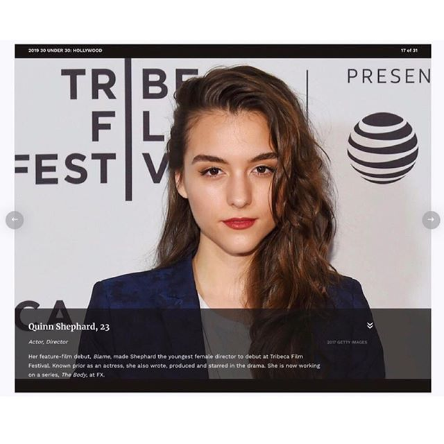 Huge congrats to BLAME's @quinnshephardofficial on making the 2019 @forbesunder30 list!!! #Forbes30Under30 ✨🙌🏼