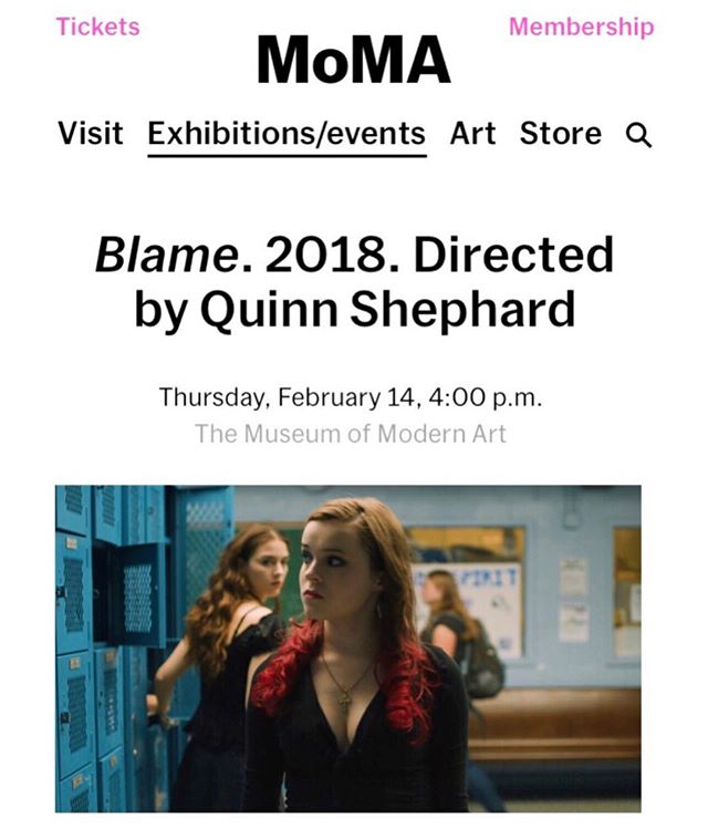 BLAME will open The Future of Film is Female Pt 2 at @themuseumofmodernart on Valentine's/Galentine's Day! ❤️💋✨ Catch @quinnshephardofficial @nadia_alexander and #LaurieShephard at the Q&A following! 🌸 4PM 2/14 @futureoffilmisfemale @blamethemovie