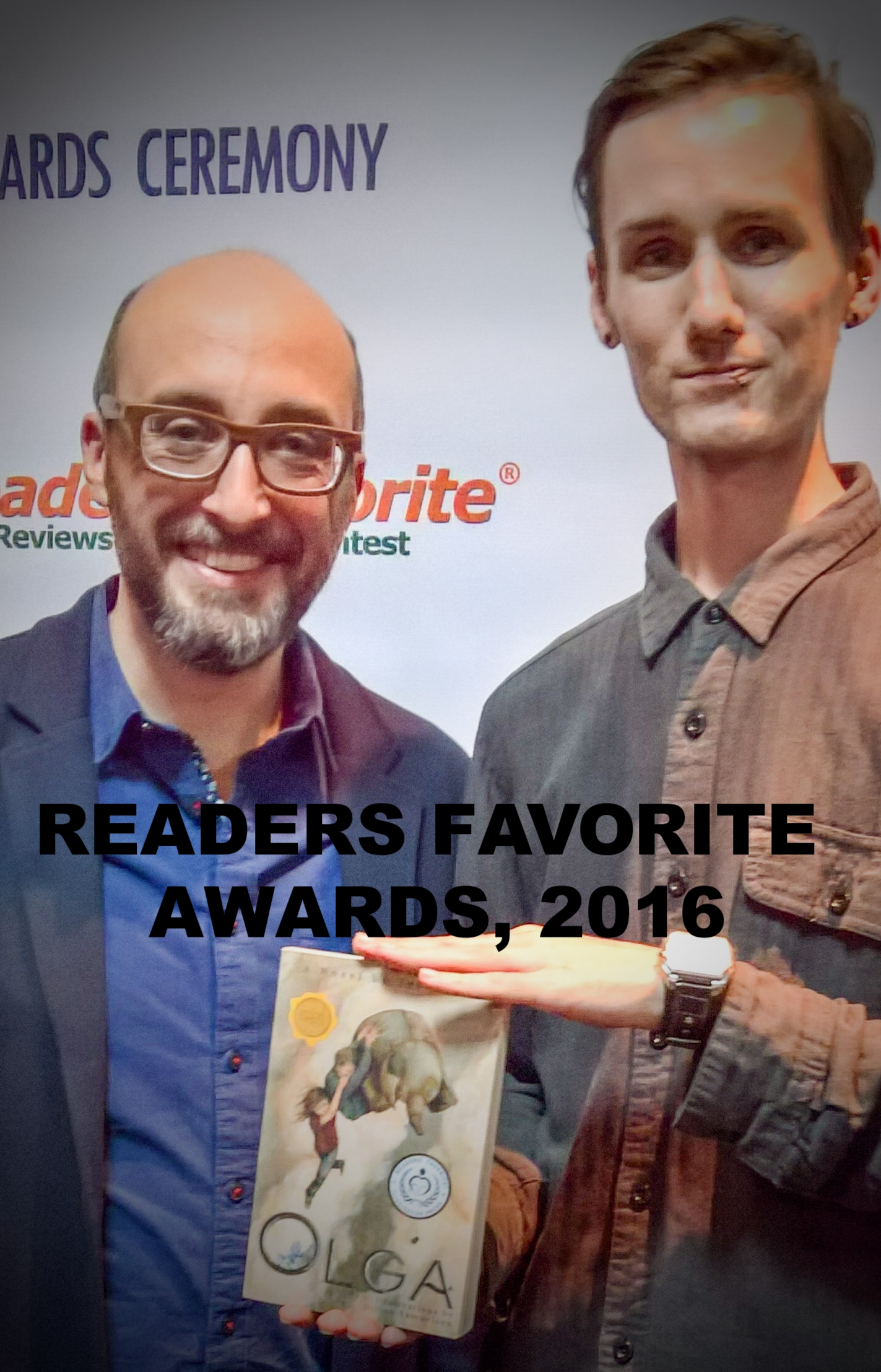 Dillon Samuelson and Ted Kelsey-- Reader's Favorite Awards 2016