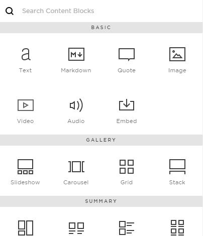 Squarespace Design Layout Blocks