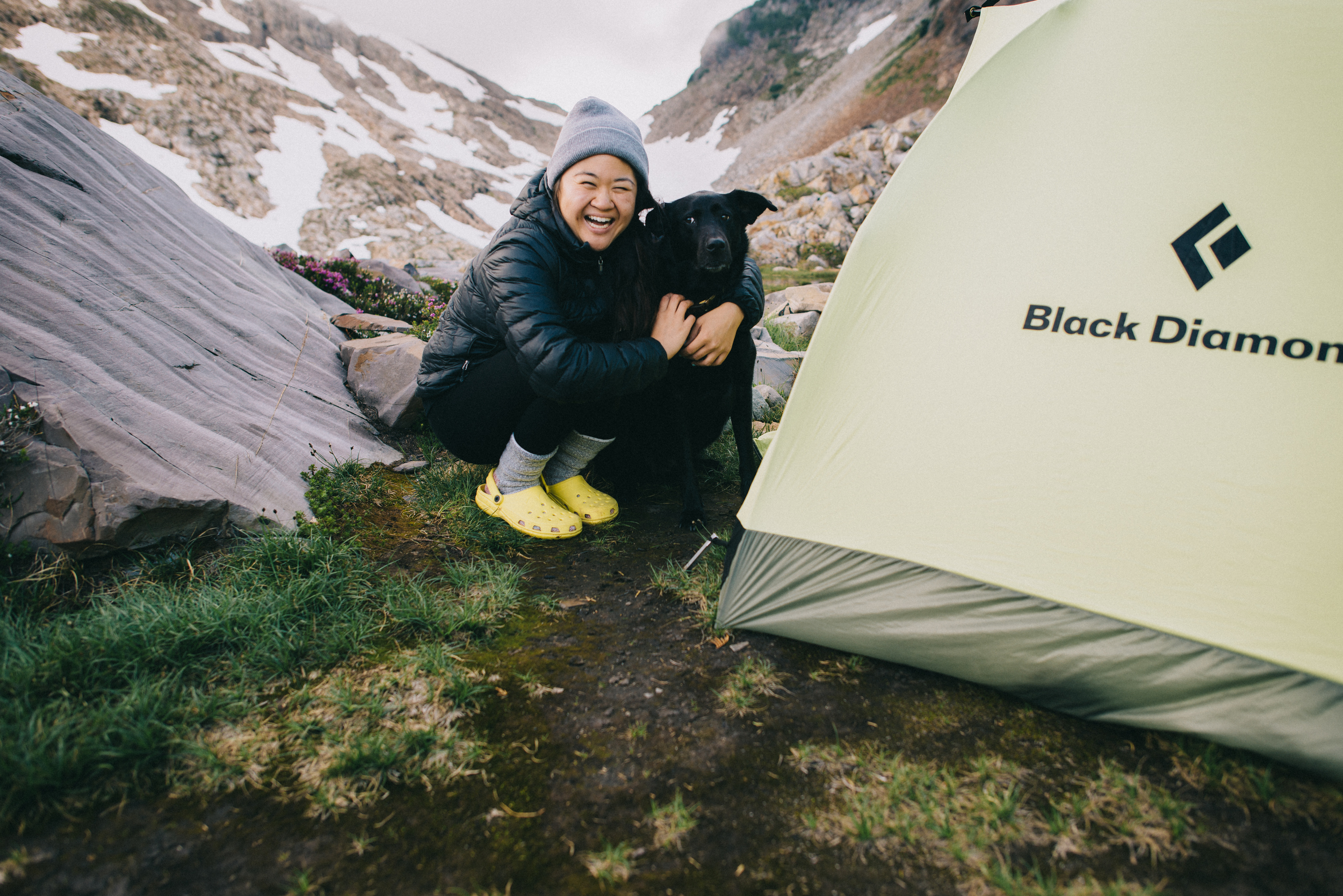My bebe Clyde and I on our first solo backpacking trip together, August 2014