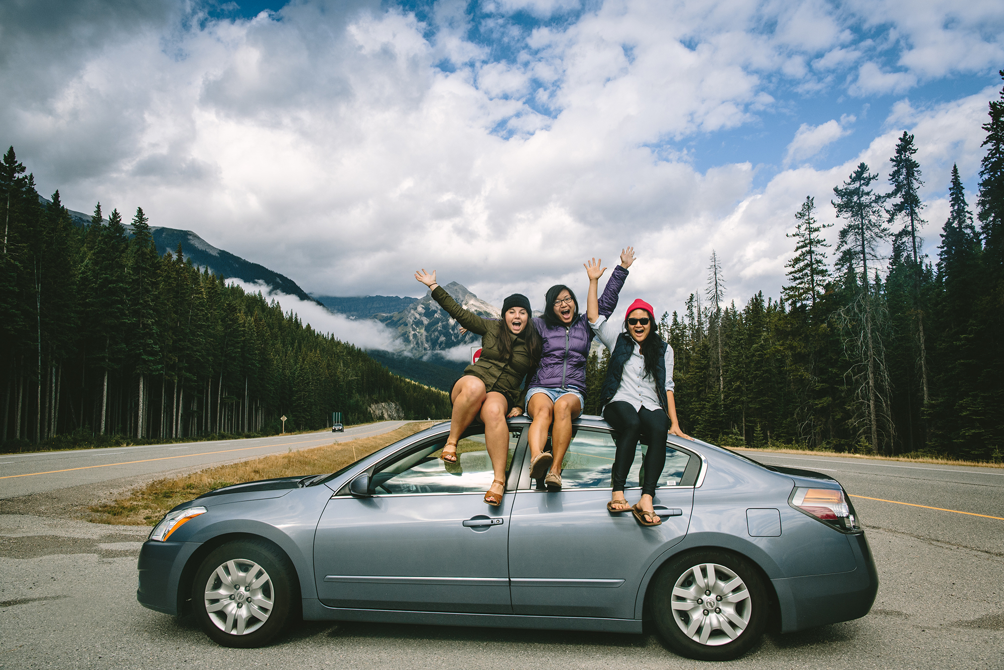 J, D, and I in Banff for Paul's workshop, the trip that forever changed our lives, photo by Jenny Linquist, August 2013