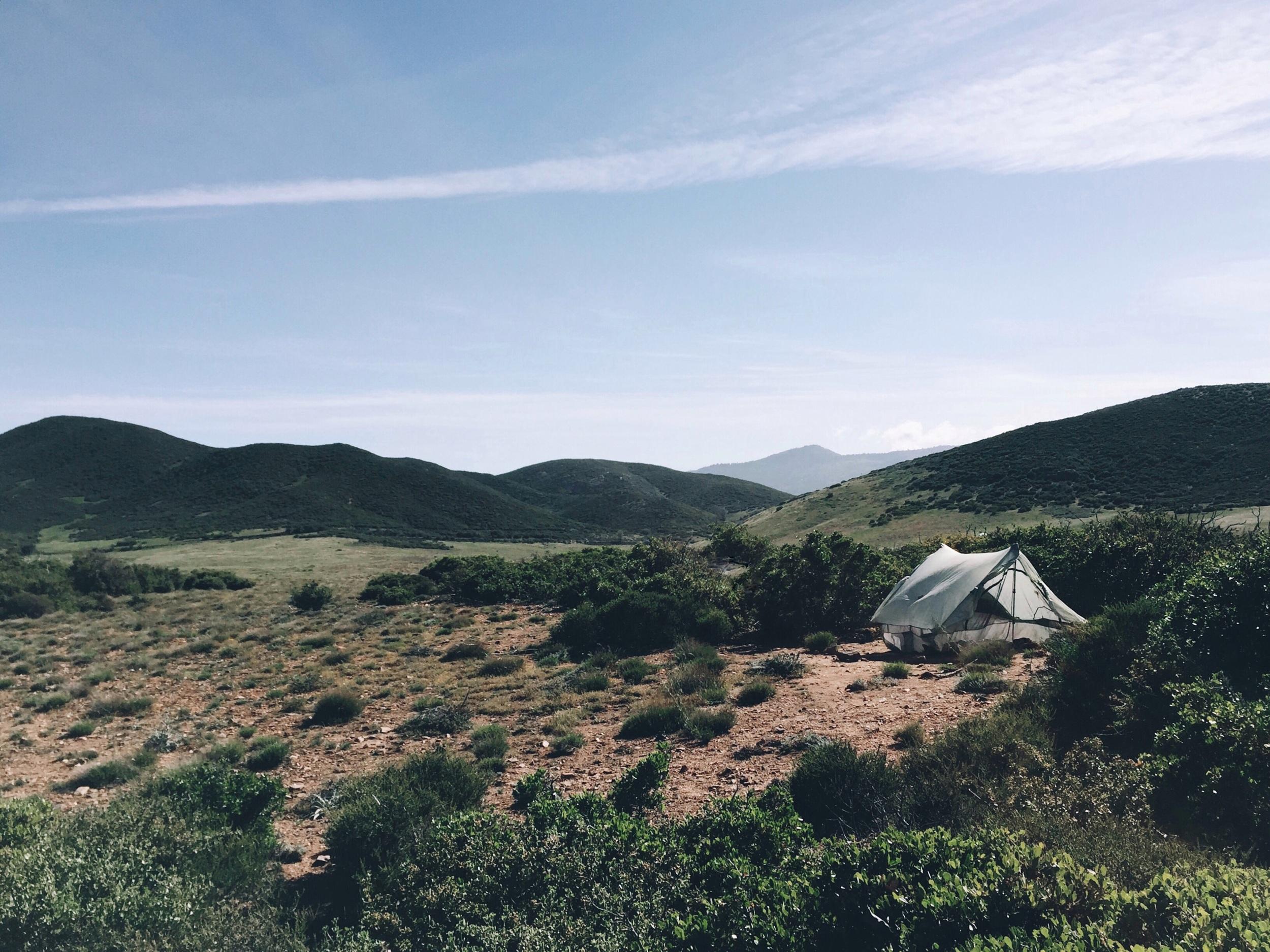 Probably the most scenic campsite so far.