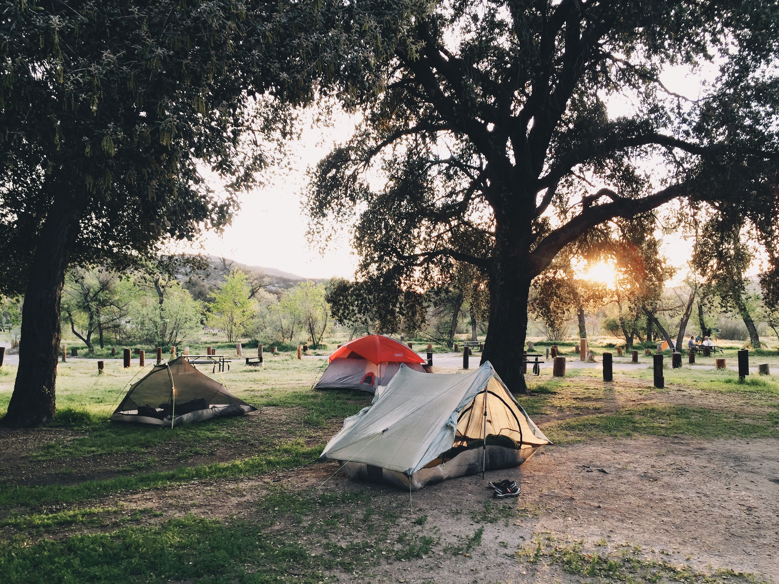 Campsite at Lake Morena.