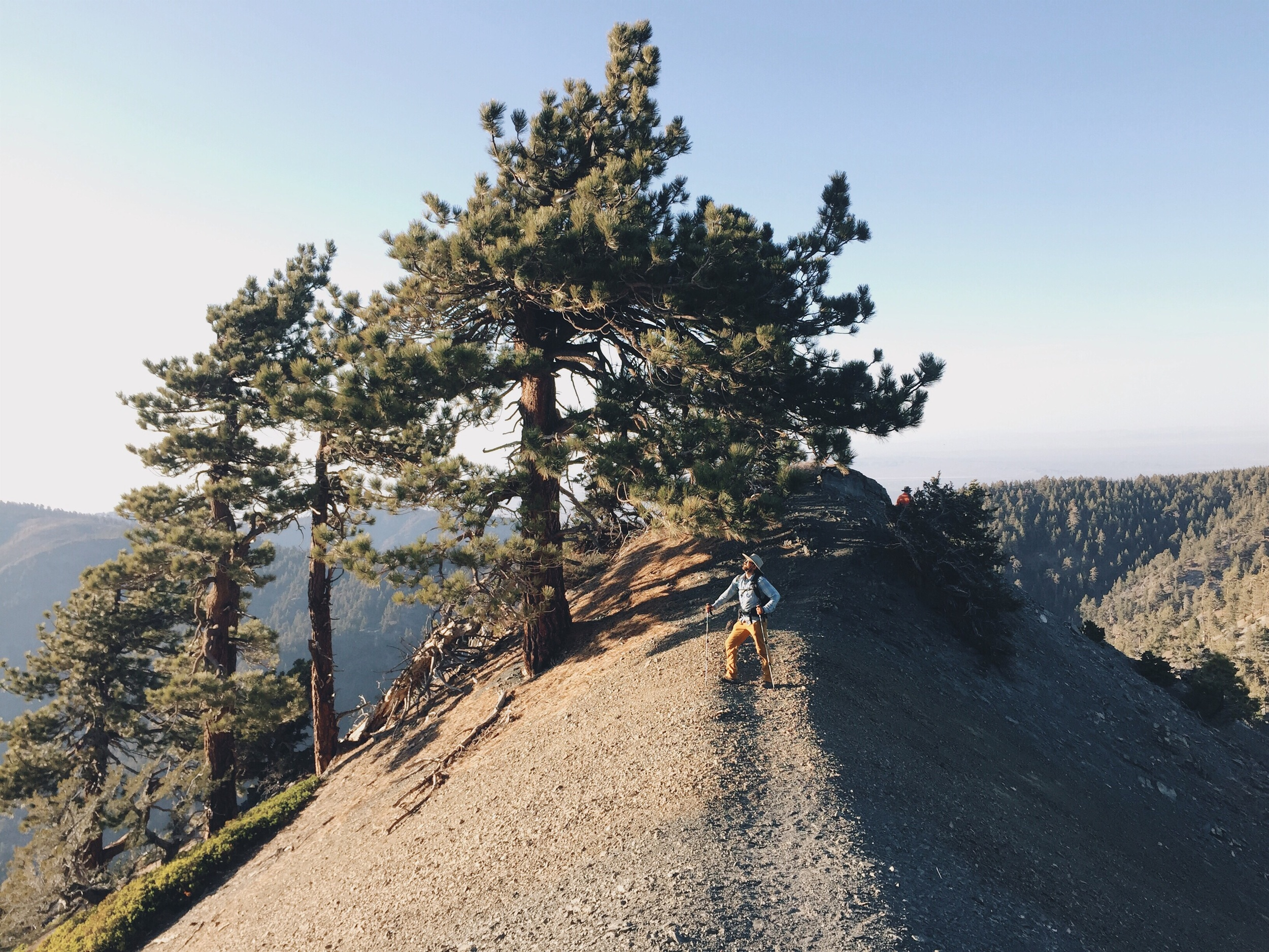 The sketchy climb up to Mt. Baldy.