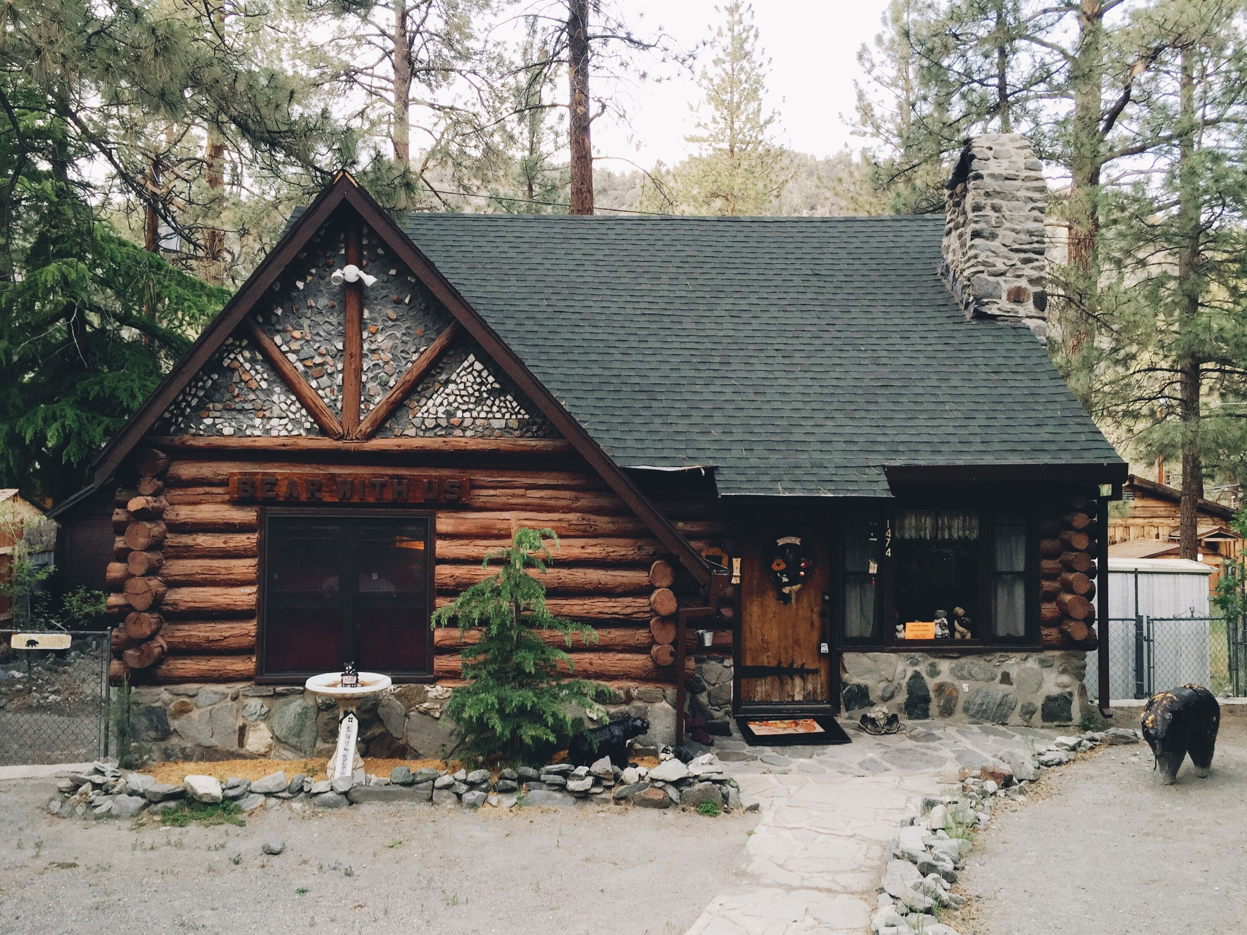 Our cute little cabin in Wrightwood.