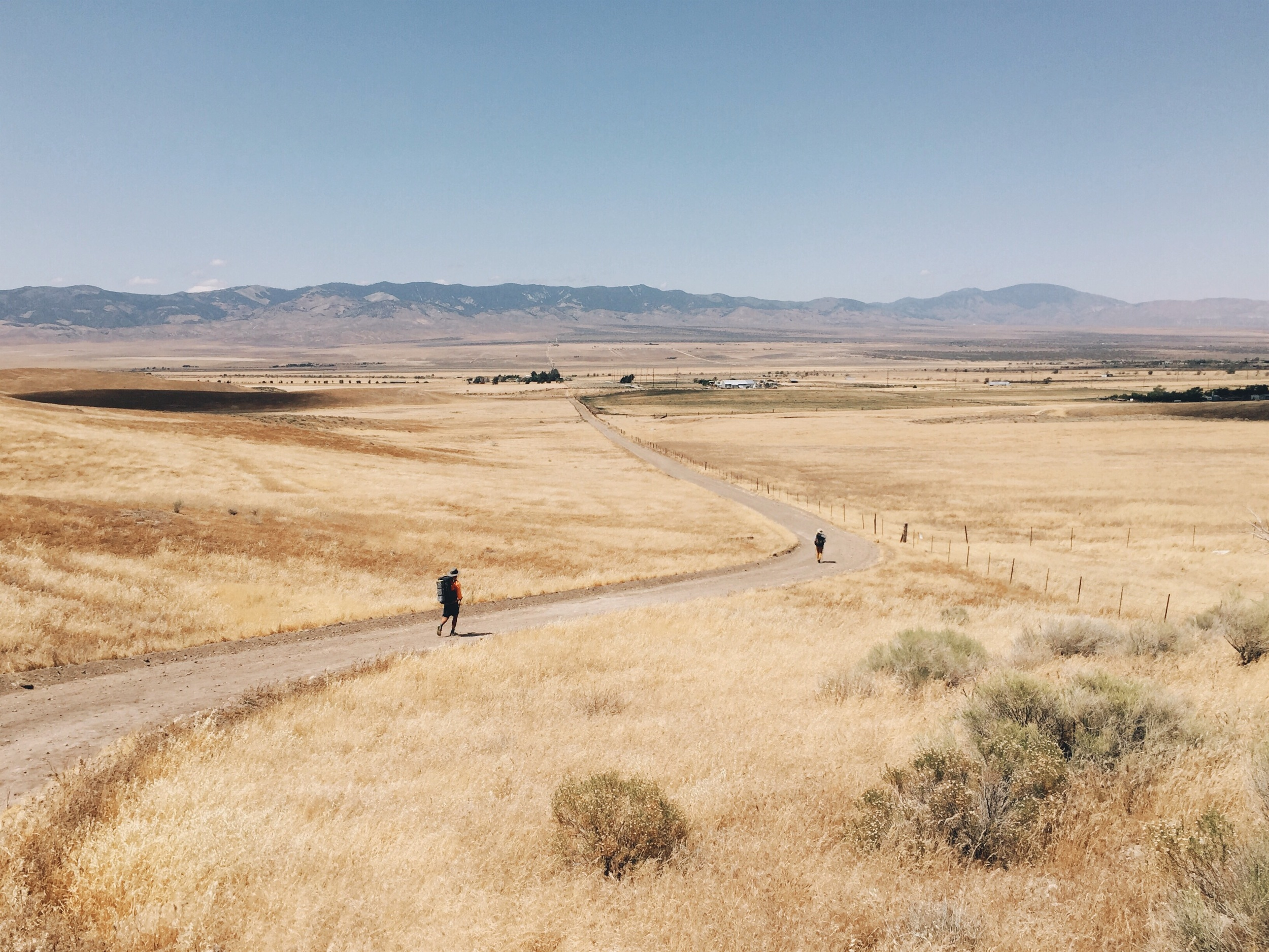 The long walk into Hikertown.