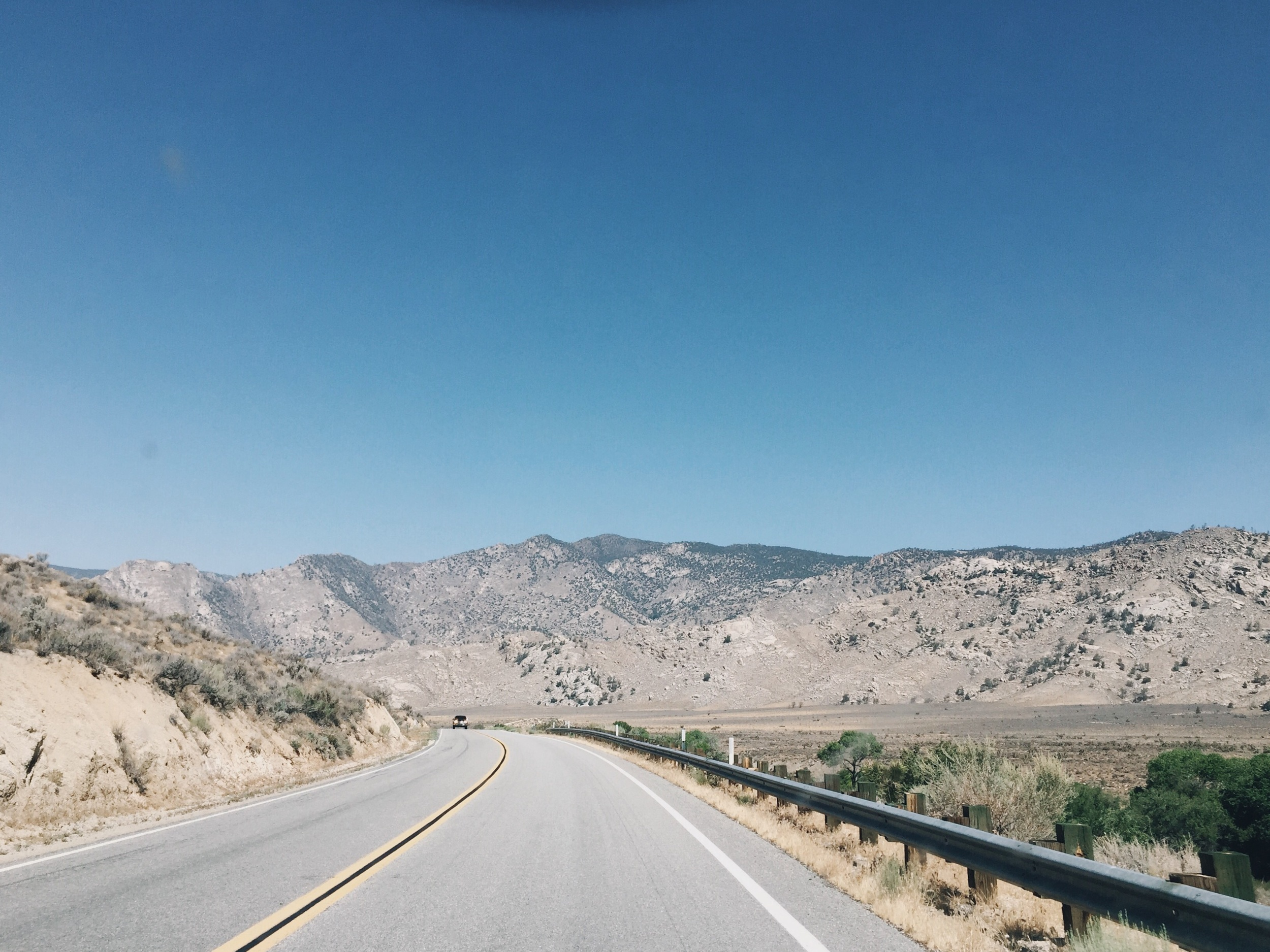 The beautiful drive from Walker pass.