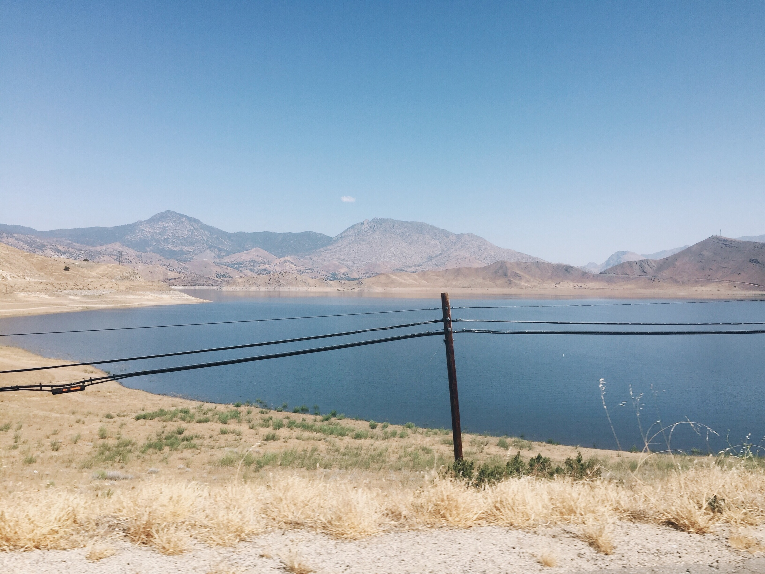 Lake Isabella! Always so good to see water in the desert.