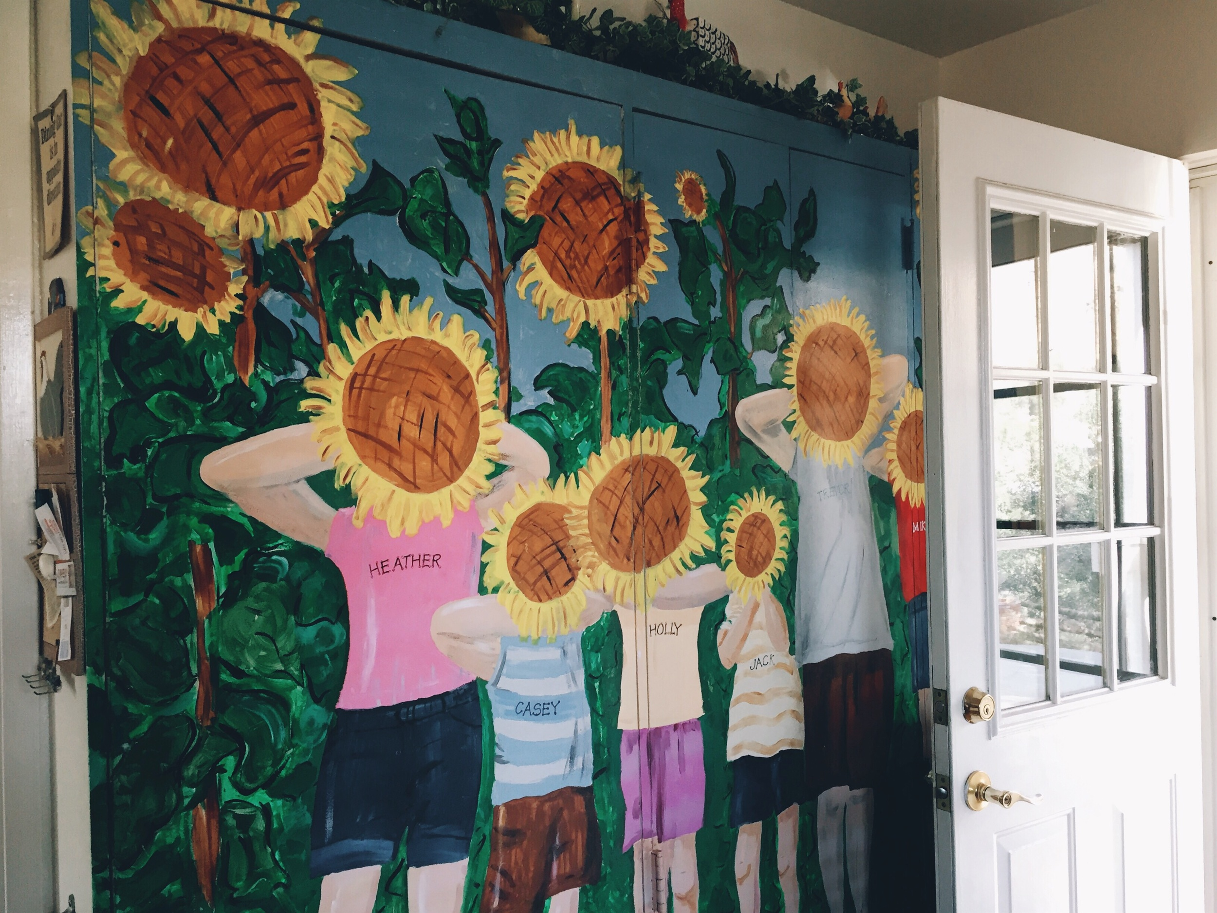 The precious mural grandpa Denis painted.